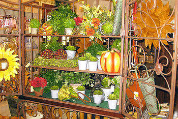 Variety of gifts and decorations at Martha's Gifts & Boutique at the MacQueen Apple Orchard, Cider Mill, Farm Market, and Pick Your Own Apples, Holland, Ohio, west of Toledo