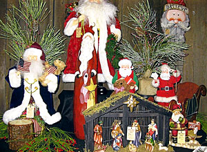 santas nativities angels stockings and more at the christmas store and gift shop